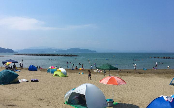 神崎海水浴場の様子